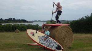 surf sur la paille